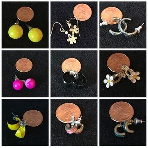 Assorted Small Earrings 12 Pair